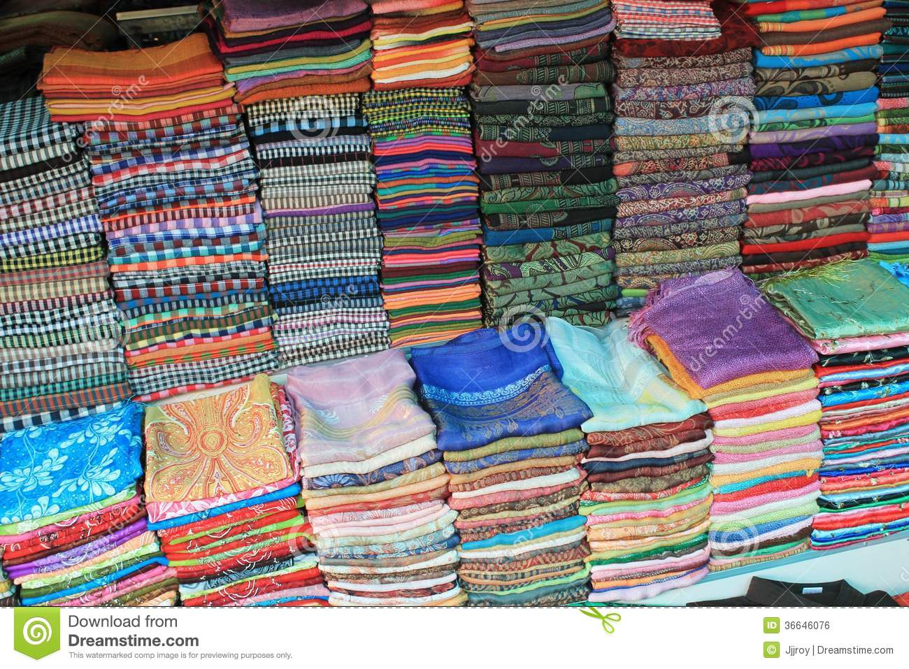 Colorful silk and woven fabric for sale in a cambodian for Fabric material for sale