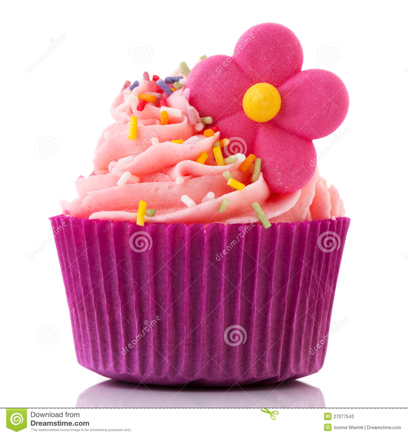 Colorful Single Cupcake In Purple Stock Image - Image of ...