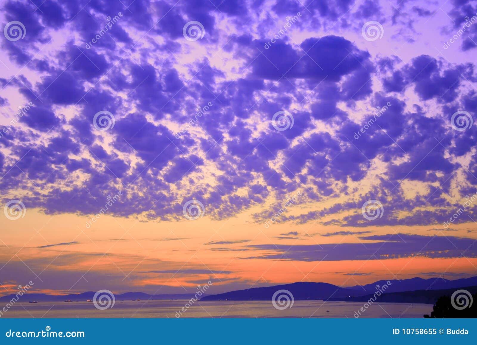 Colorful sky scene
