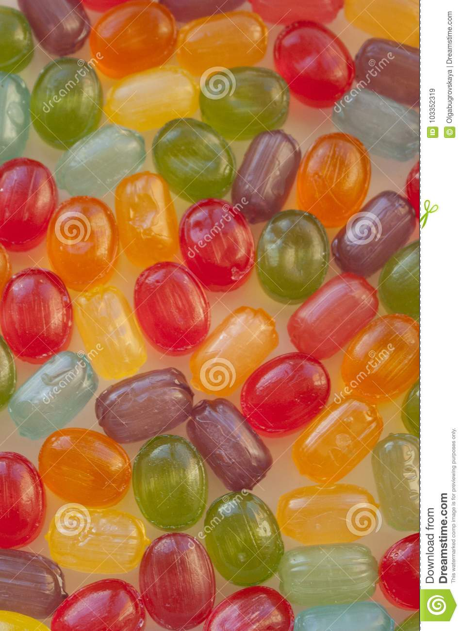 colorful small candies lollipops background wallpaper field stock