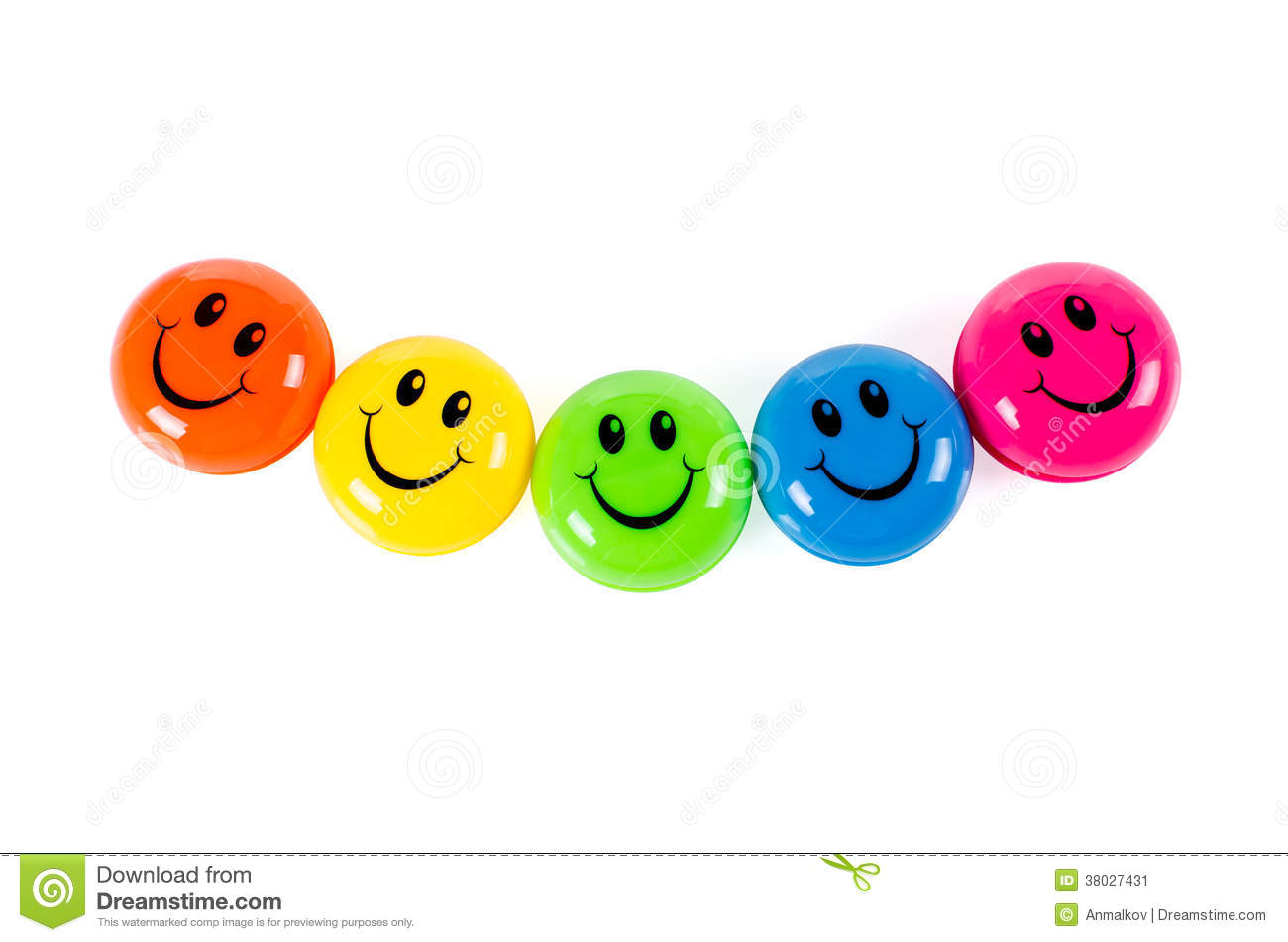 Colorful Smileys Stock Image - Image: 38027431