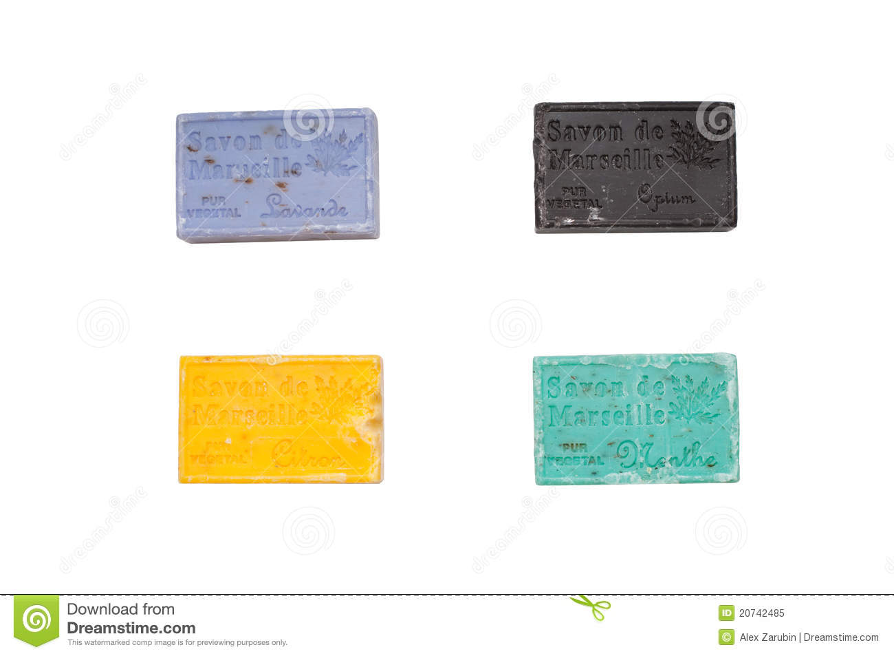 Colorful Soap Bars In Different Colors Royalty Free Stock