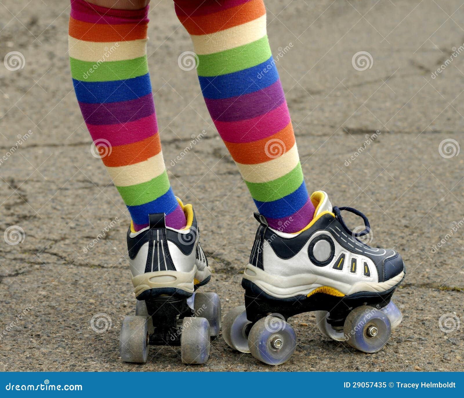 Roller skates for free - Colorful Socks And Roller Skates