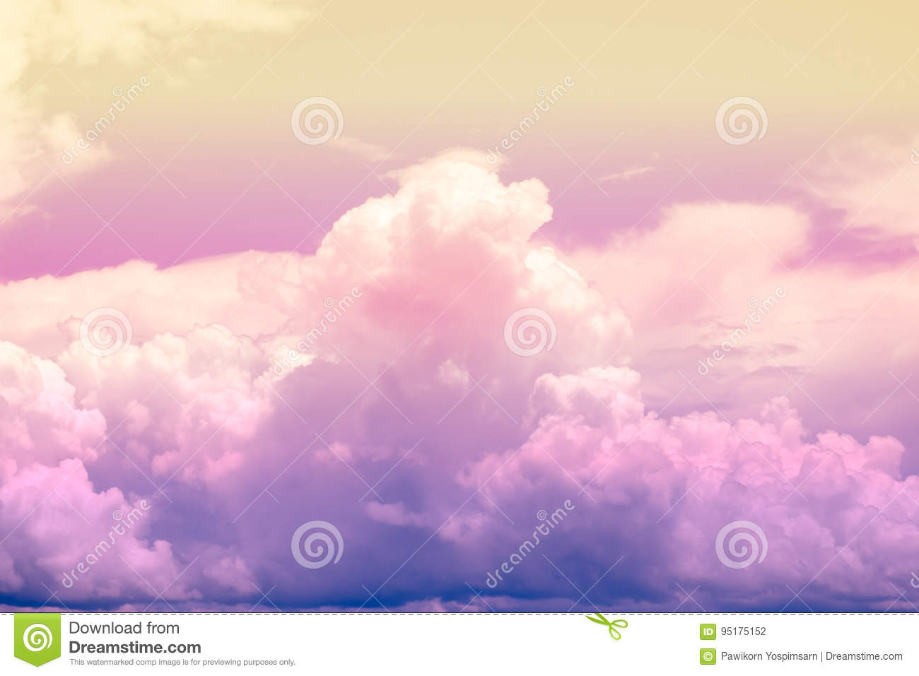 Colourful Fantasy Cloud Backgrounds: Colorful Soft Cloud And Sky For Background Stock Photo