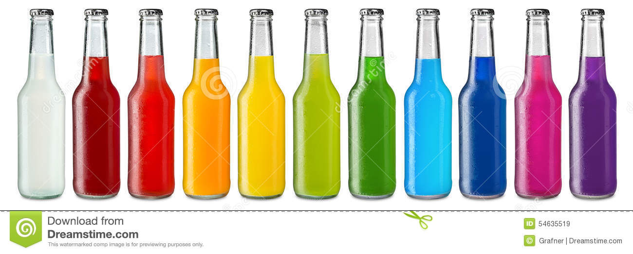 Colorful soft drinks