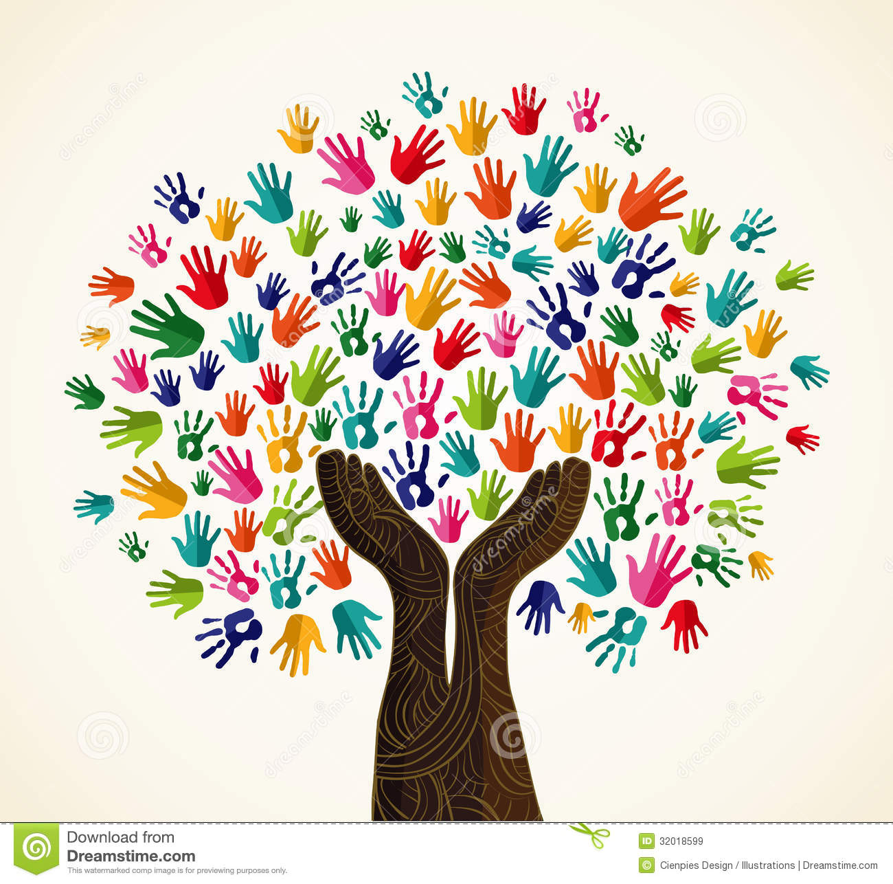 Colorful Solidarity Design Tree Royalty Free Stock Images - Image ...