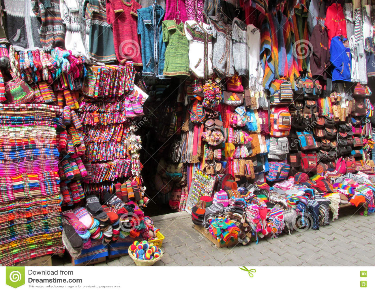 Colorful Souvenir Market In South America Stock Photo ...