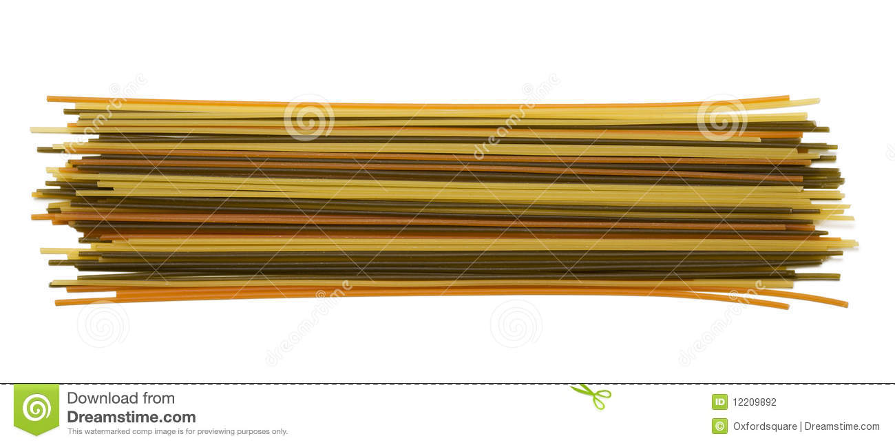 Download Colorful Spaghetti stock photo. Image of lunch, healthy - 12209892