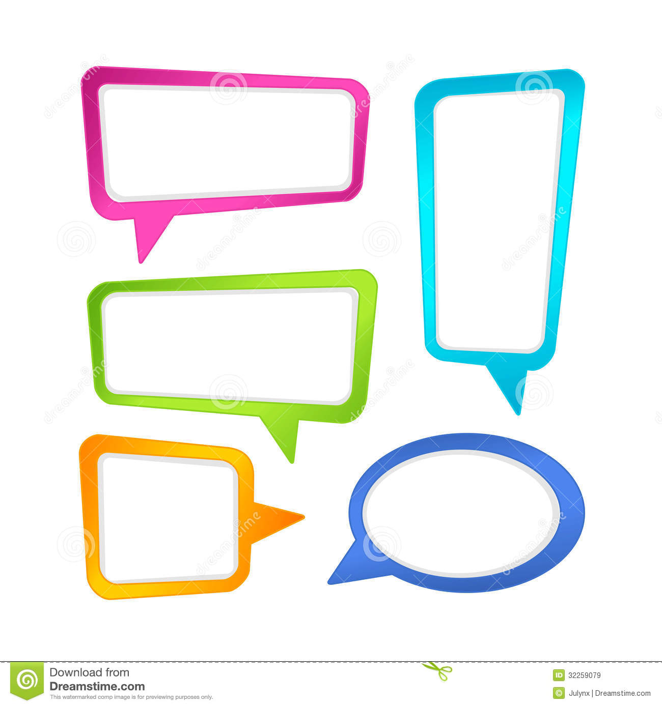 Colorful Speech Bubble Frames Royalty Free Stock Images - Image ...