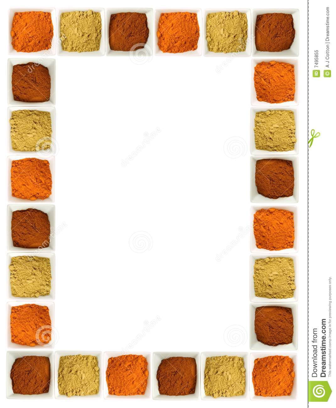Colorful Spices Food Page Border Stock Image Image of clean