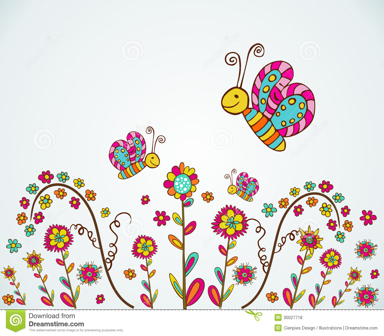 Spring Nice Flower Background Stock Vector Illustration Of