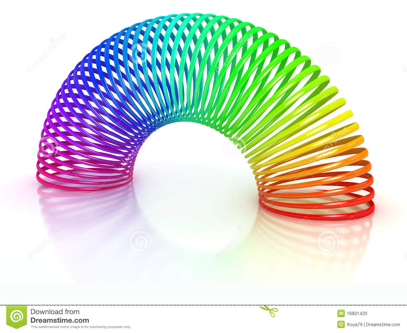 Colorful Spring Over White Stock Photo Image 16801420
