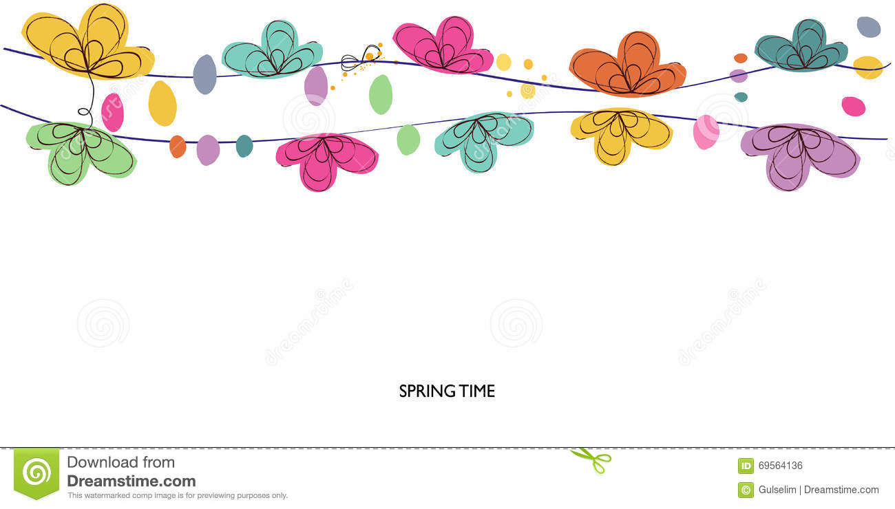 Colorful Spring And Summer Time Decorative Floral Abstract ...