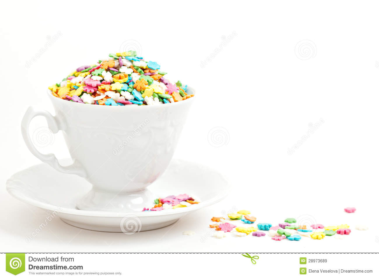 colorful sprinkles in a cup on white stock image image of green