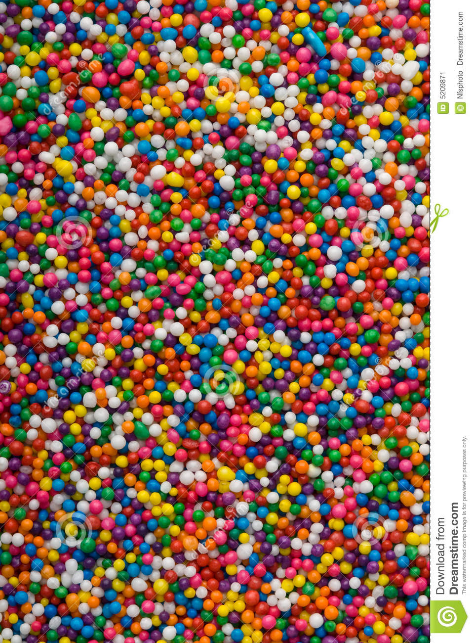 Colorful Sprinkles, Jimmies For Cake Decoration Stock Image