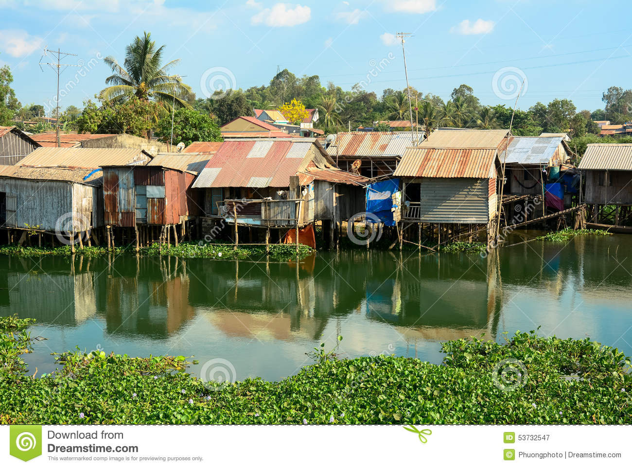 Squatter Town Urban Decay Background Philippines Royalty