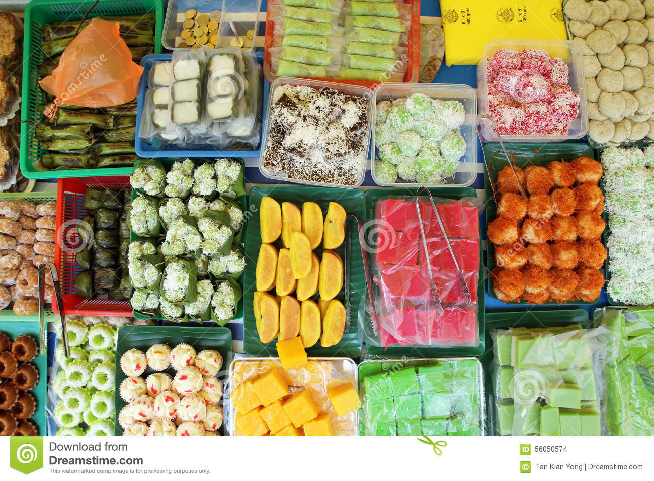 kuih malaysian pastry colorful assorted preview