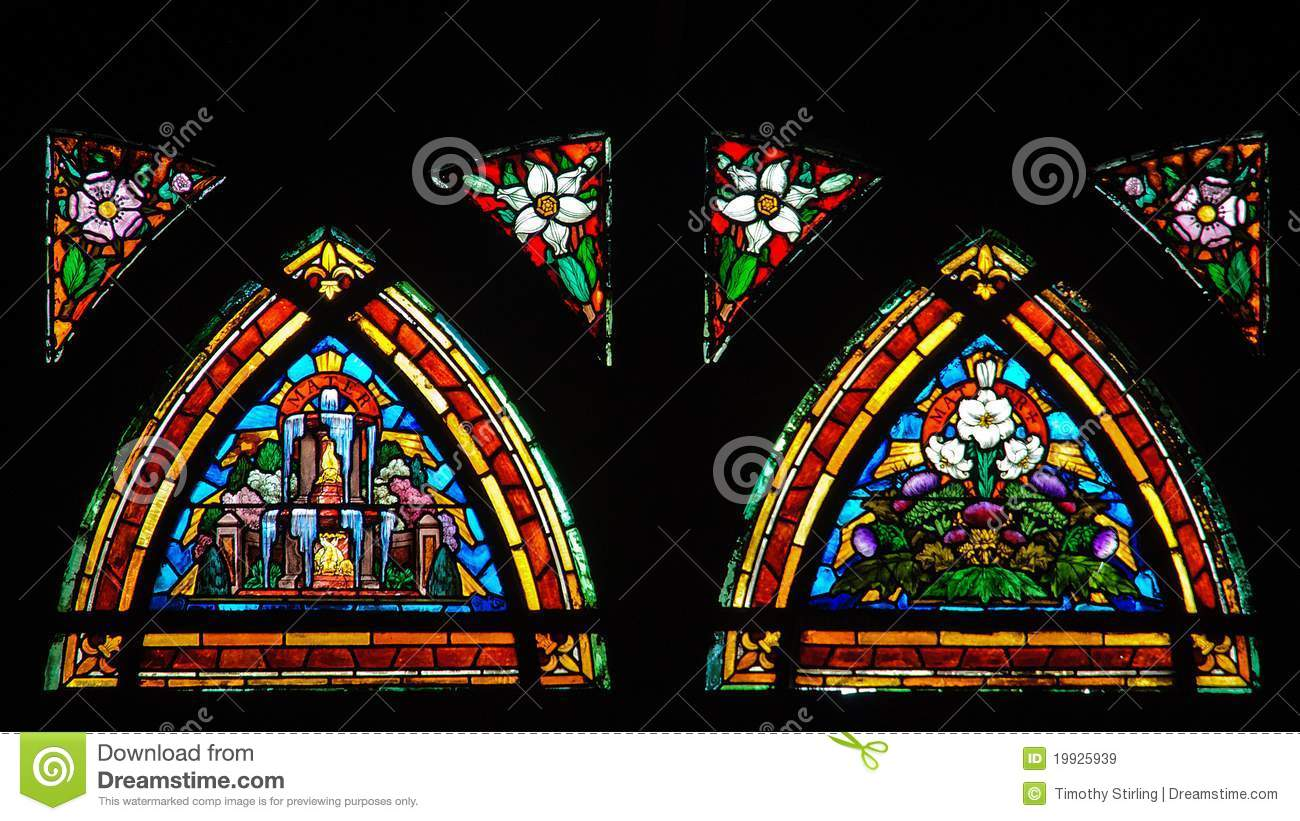 Colorful Stained Glass Window Stock Image