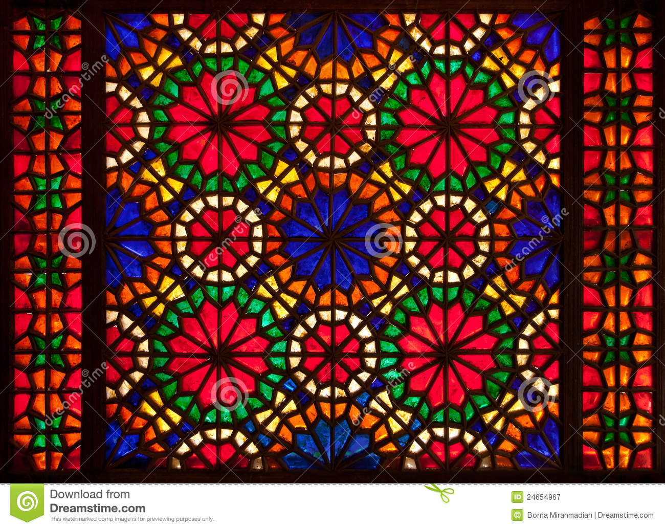 Colorful Stained Glass Window Royalty Free Stock