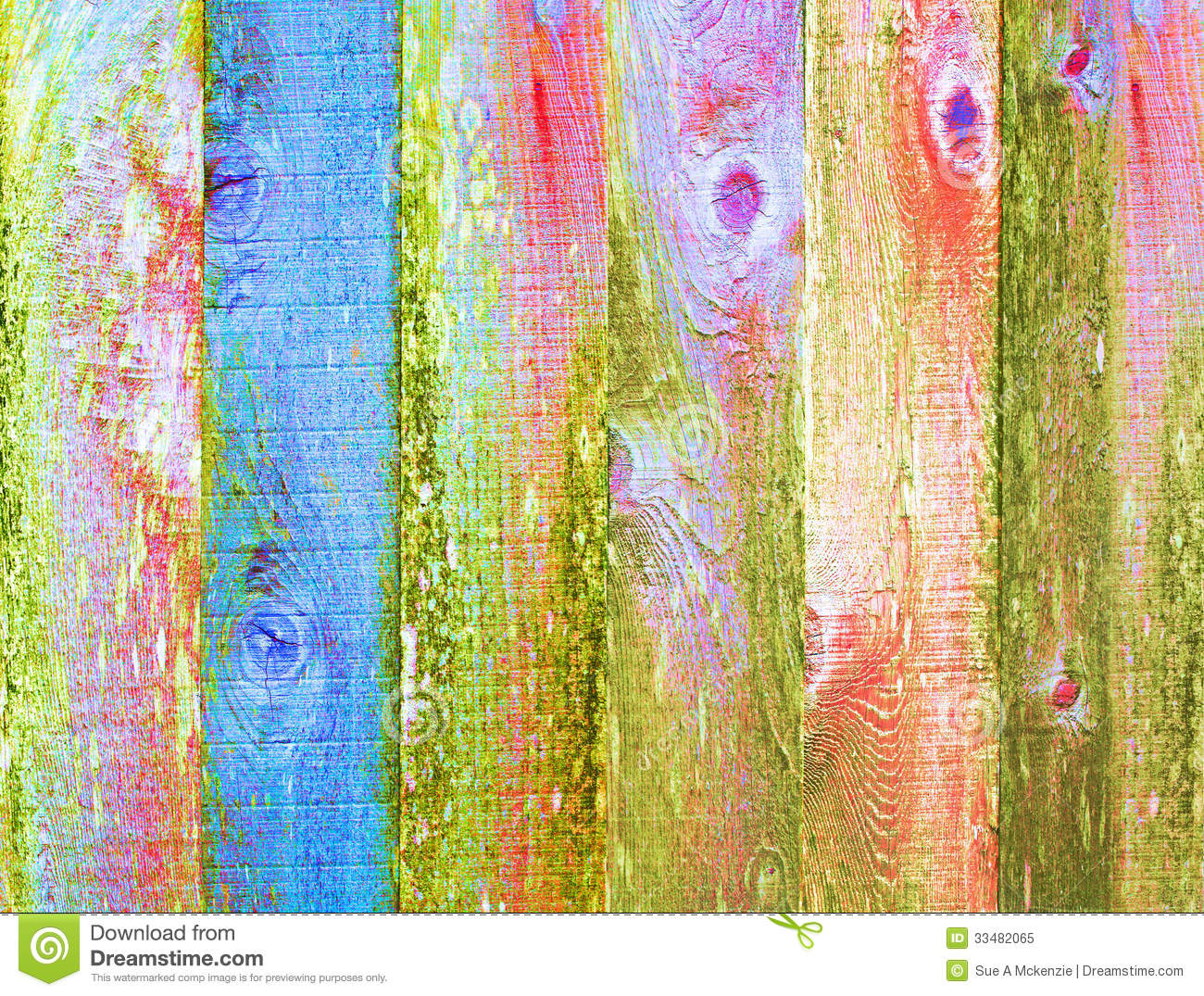Colorful Stained Wood Texture Distressed Backgroun Stock