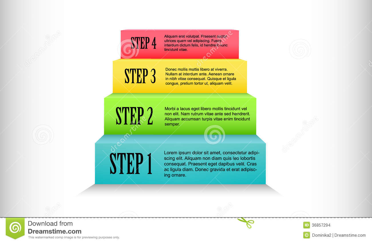 Colorful Stairs Process Step By Step Stock Images - Image ... - photo#39