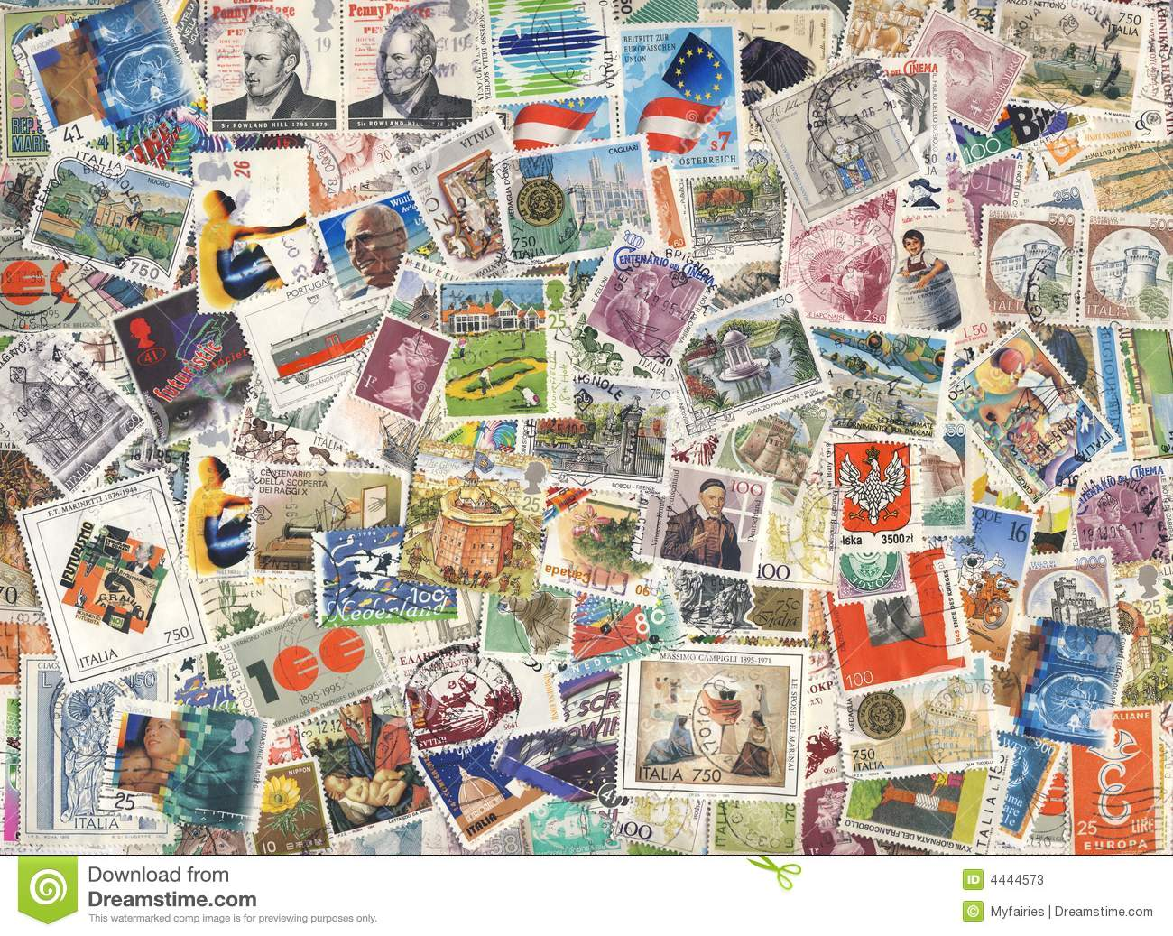 colorful stamps background stock image image of aging 4444573