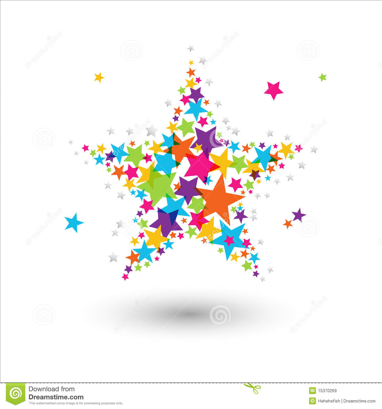 colorful star royalty free stock images image 15370269 Hexagon Shape Clip Art star shape clipart free