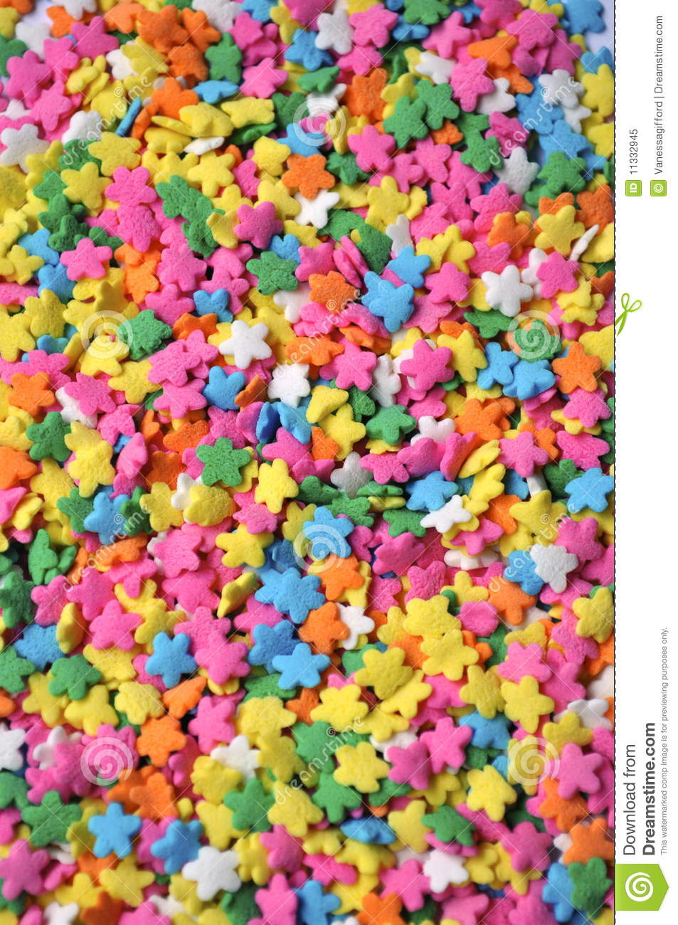 Colorful Star Sprinkles Stock Image Image Of Colorful
