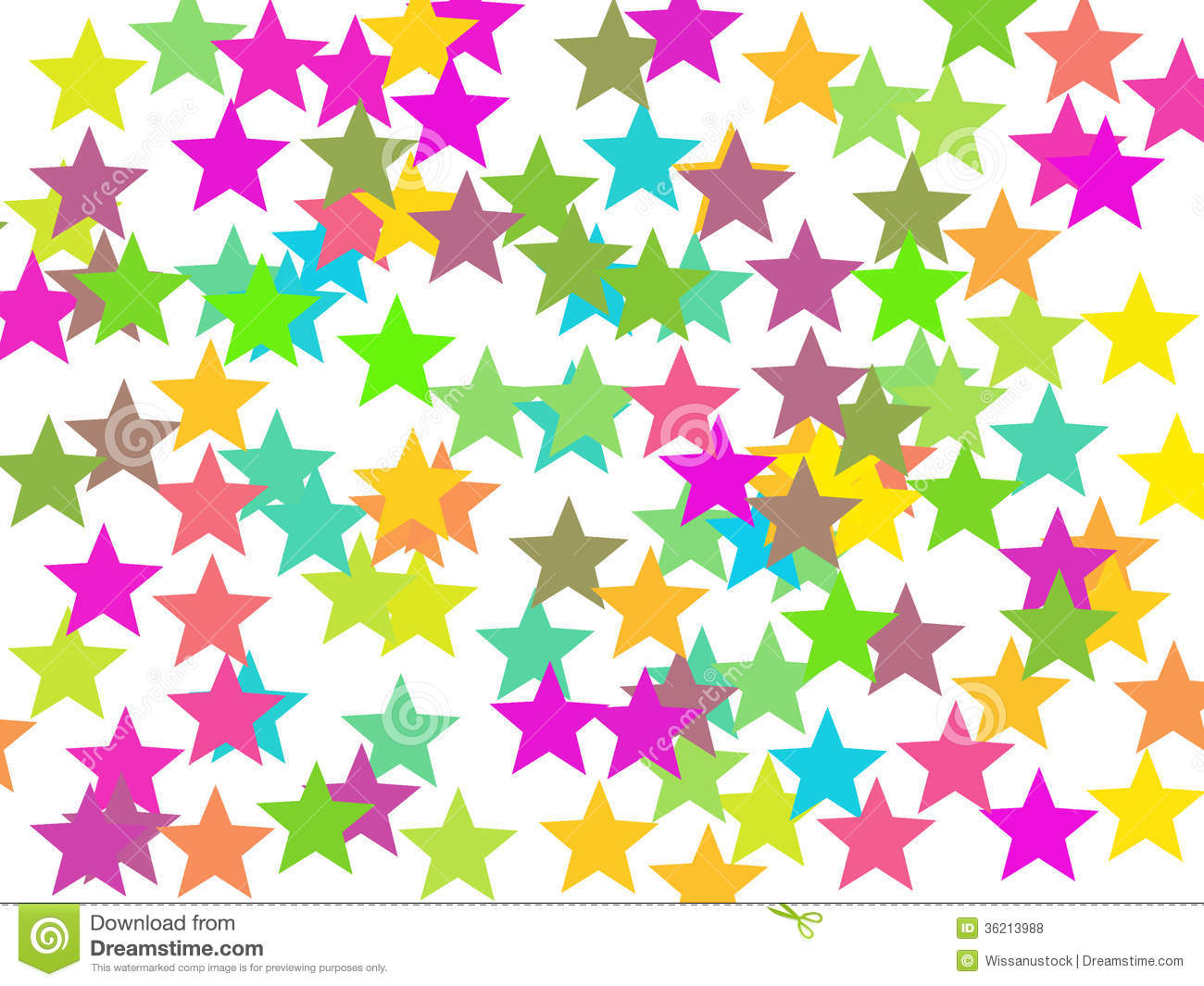 Colorful Stars Colorful stars background