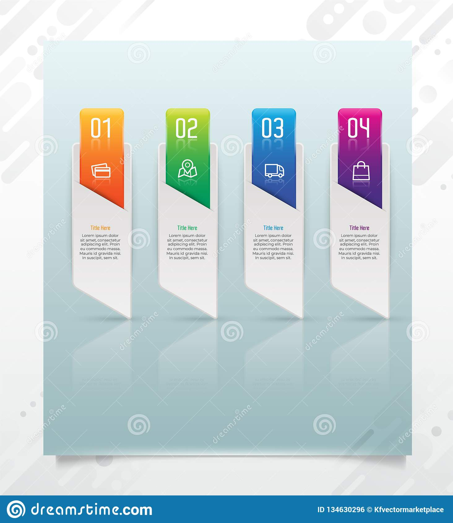 Colorful step square infographic vector design with paper effect for business purpose and can be used for presentation, brochure