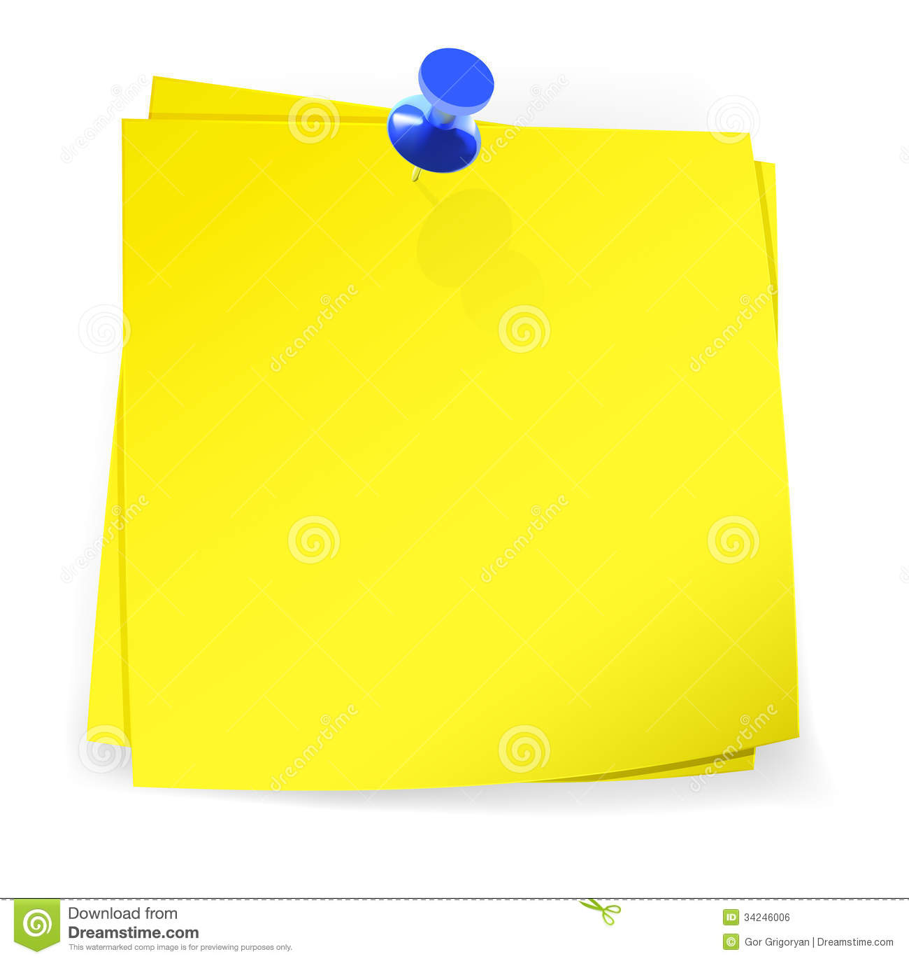 Colorful Sticky Notes Attached With Blue Pin Royalty Free Stock Image ...