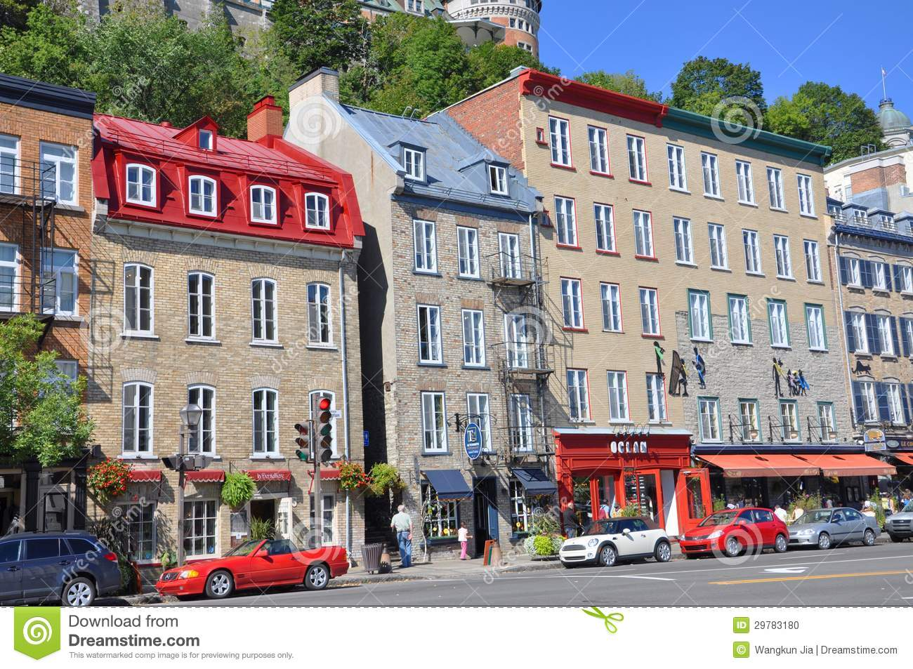 Stone Houses In Basse Ville Quebec City Editorial Image