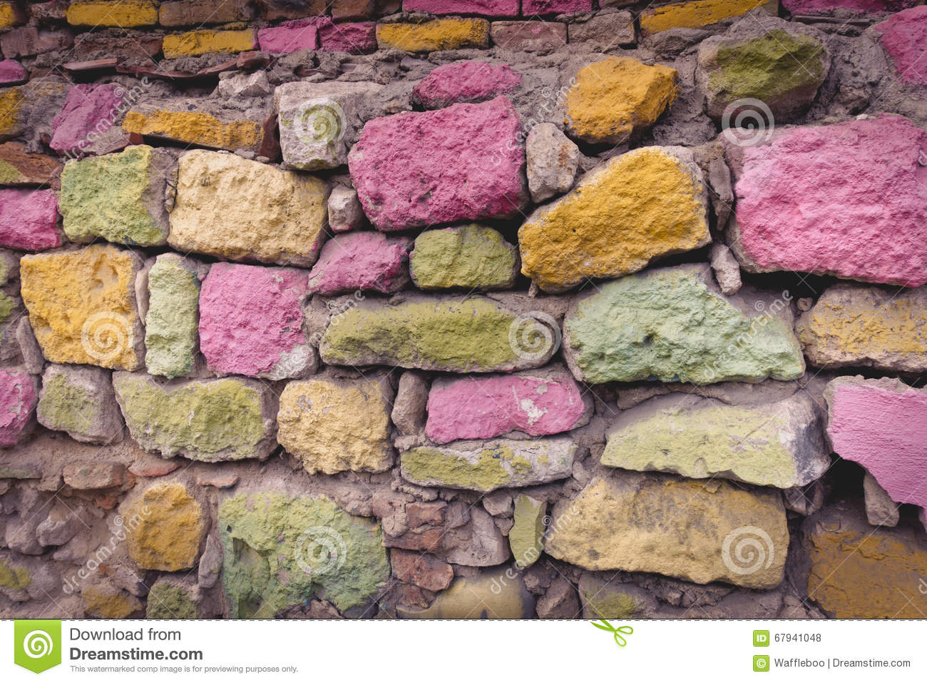 Rough Stone Block Texture : Colorful stone wall texture background stock photo image