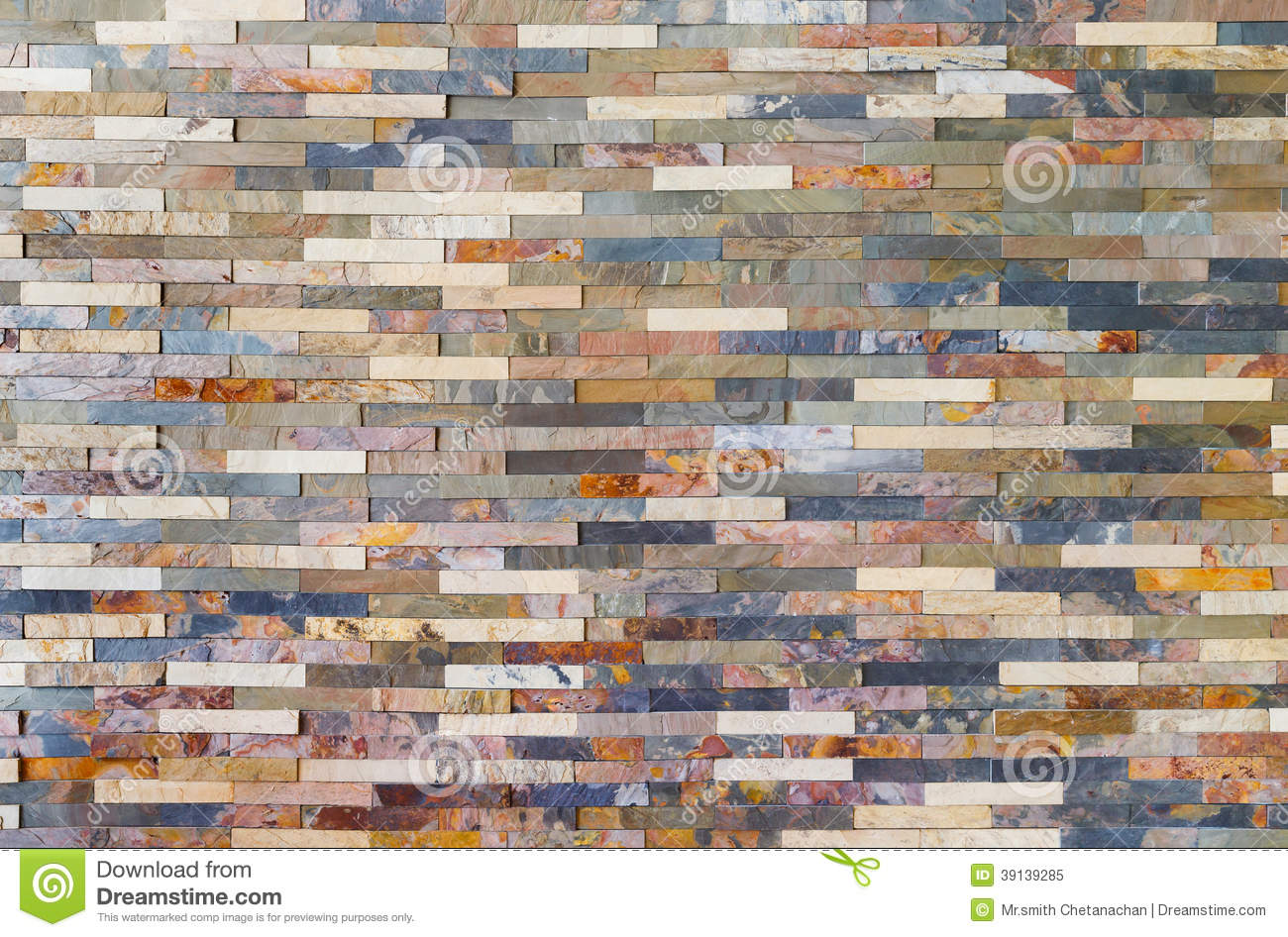 Colorful Stone Wall Tiles Stock Photo Image 39139285