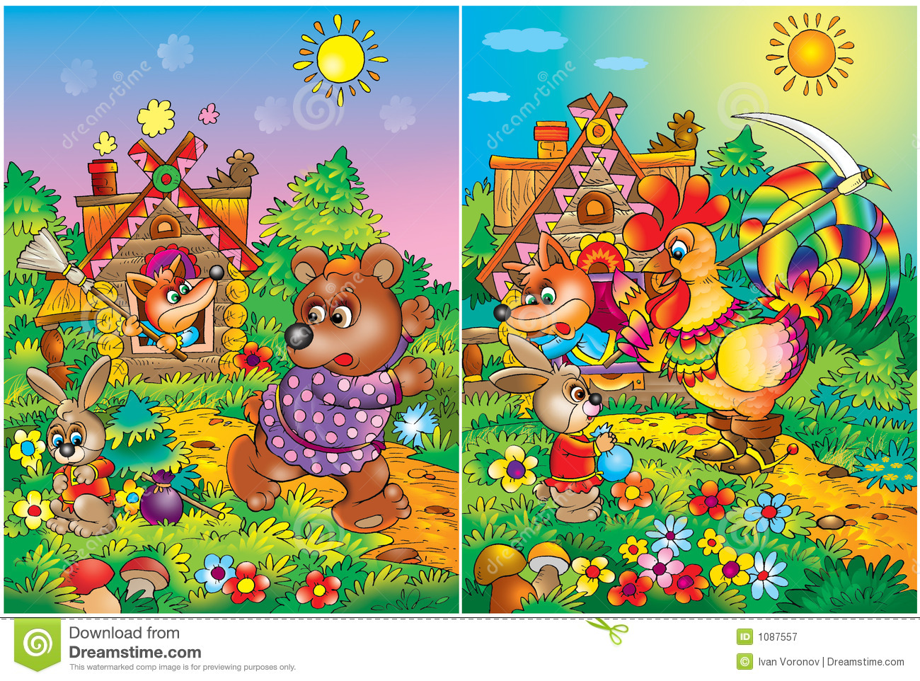 Colorful Storybook pages stock illustration. Illustration of ...