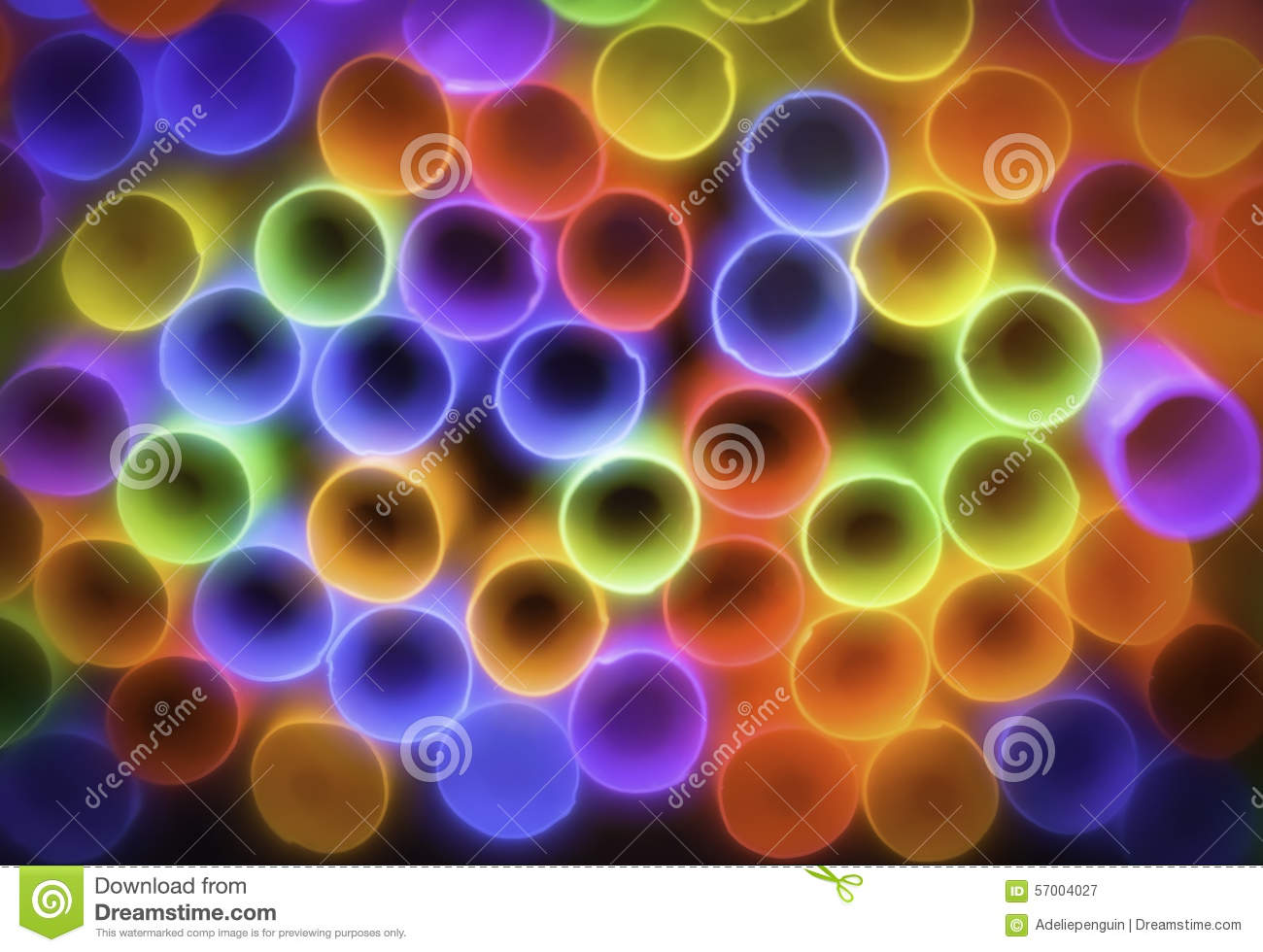 Colorful Straws, Abstract Background