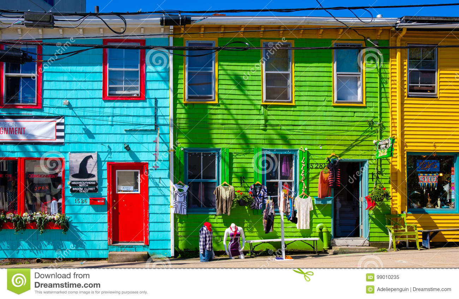 Colorful Street, Halifax, Nova Scotia, Canada