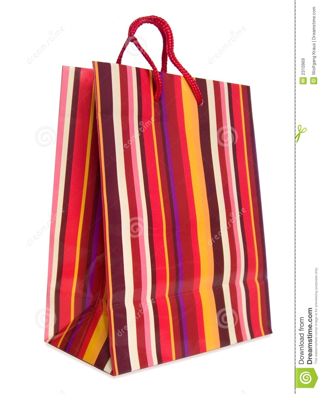 Colorful striped shopping bag