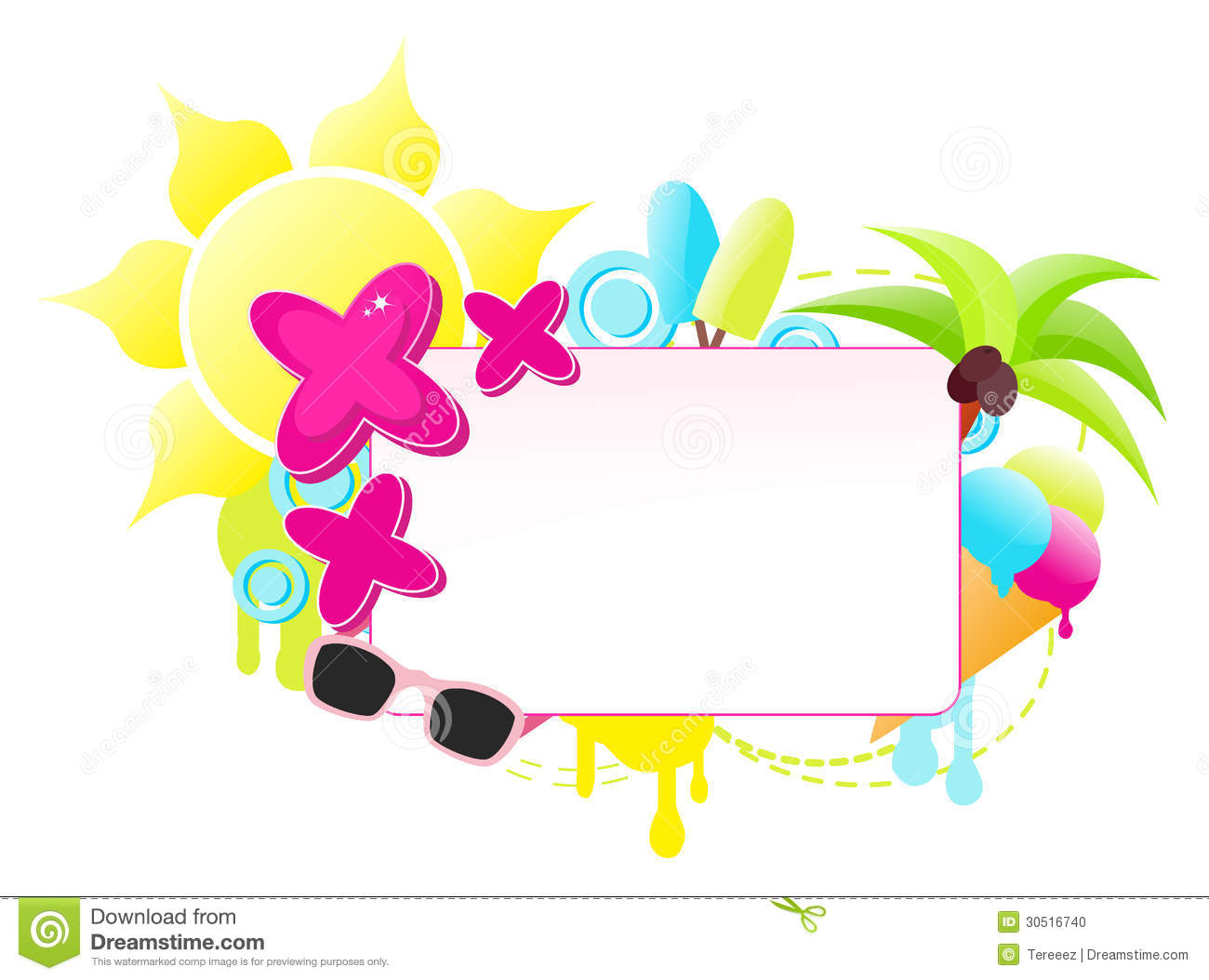 Colorful Summer Holiday Label Stock Photo Image 30516740