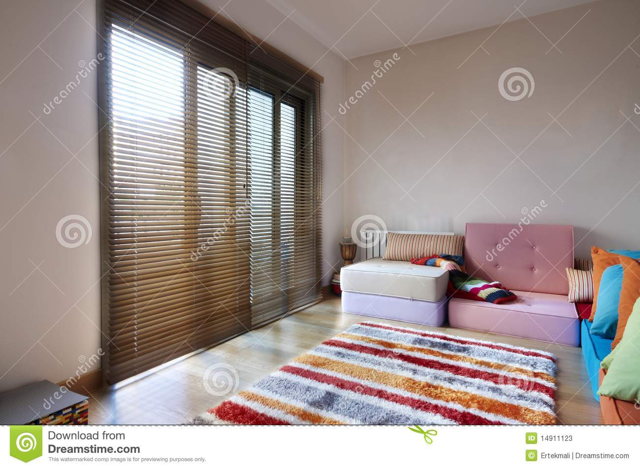 Rattan Furniture In The Sun Stock Photo