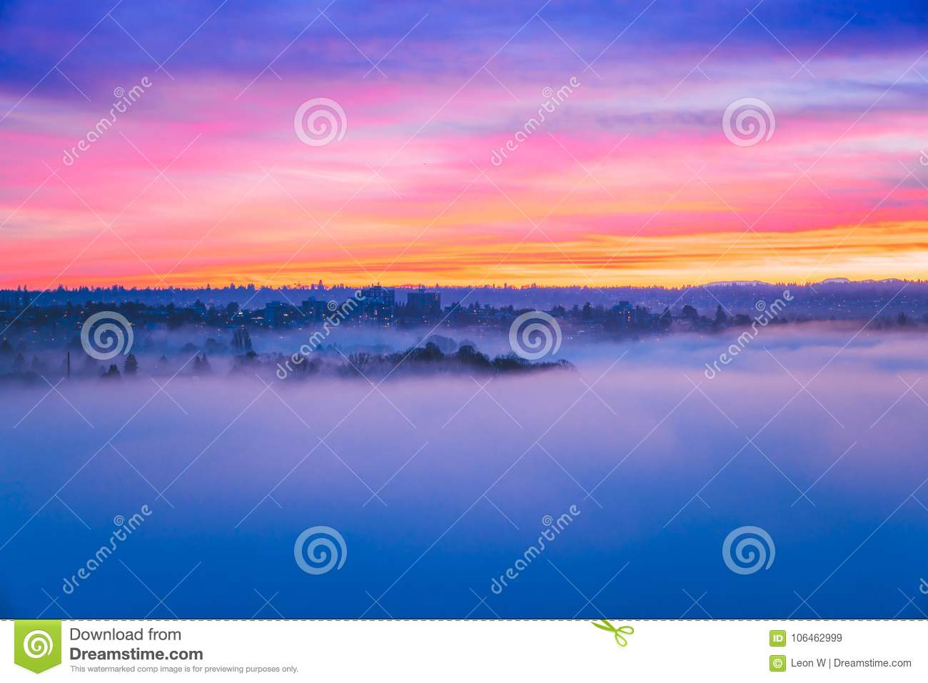 red sunset clouds with smoke across ocean backgrounds stock image