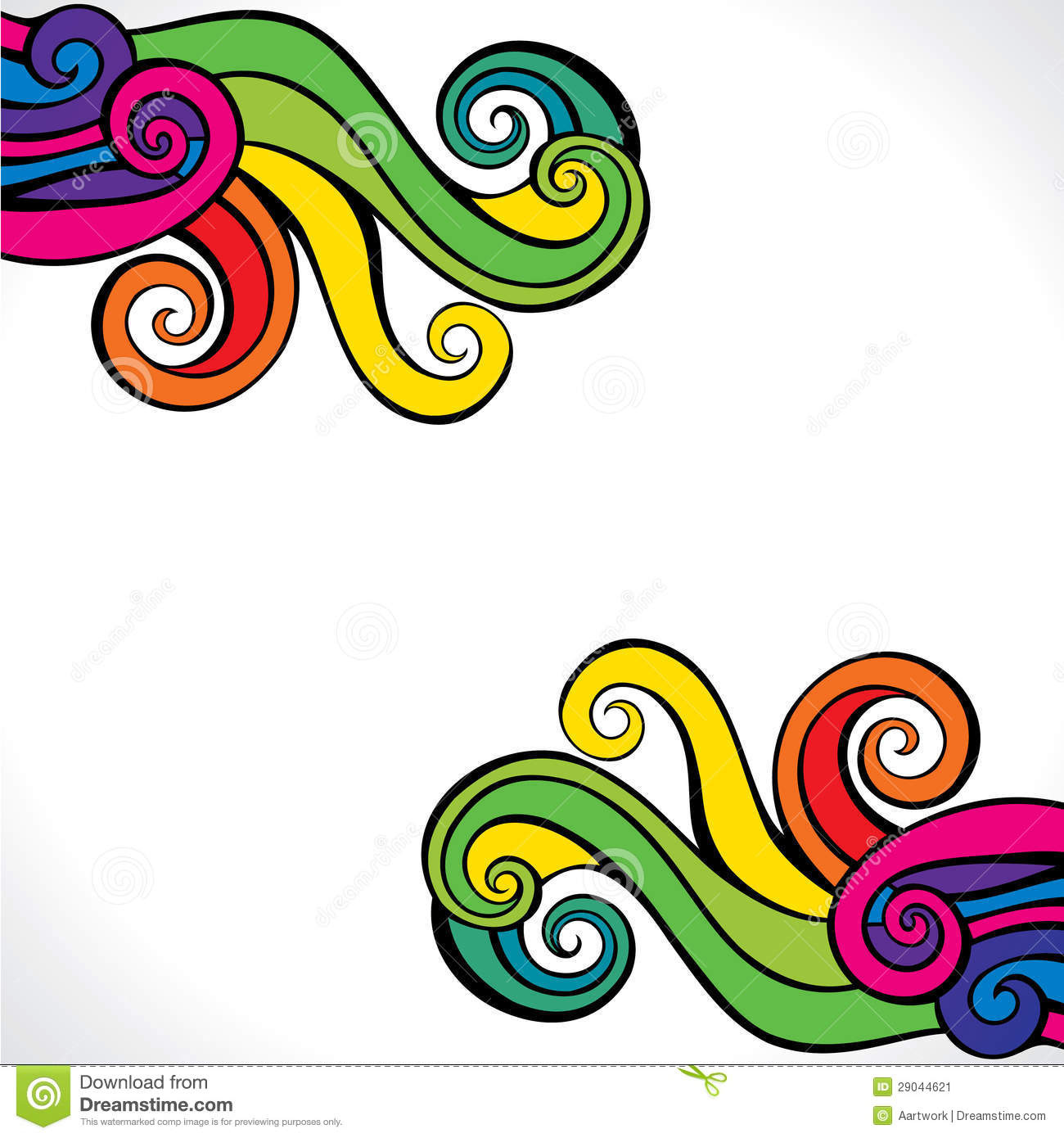 colorful swirl design background stock image image 29044621. Black Bedroom Furniture Sets. Home Design Ideas