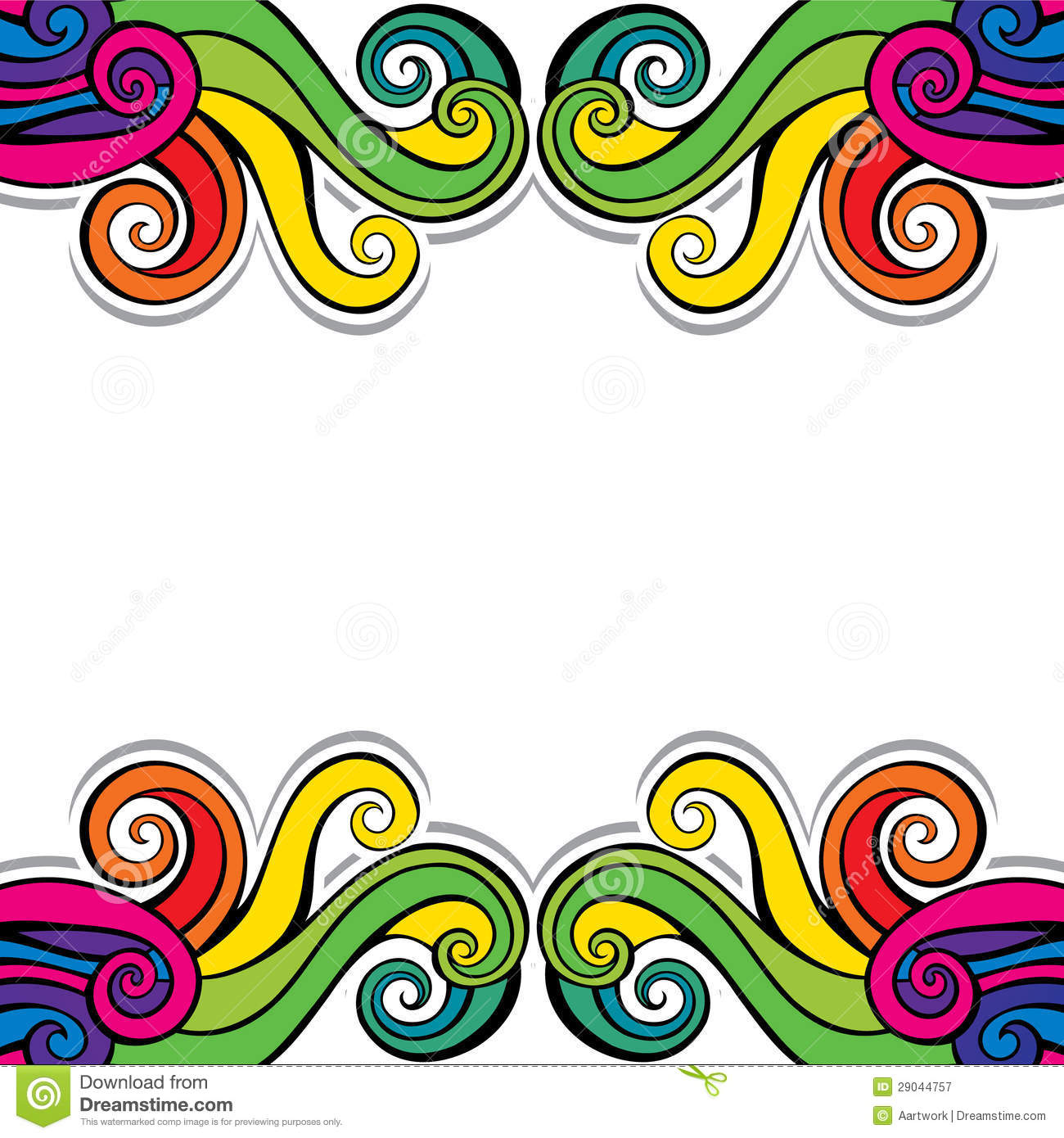 colorful swirl design background royalty free stock photography image 29044757. Black Bedroom Furniture Sets. Home Design Ideas