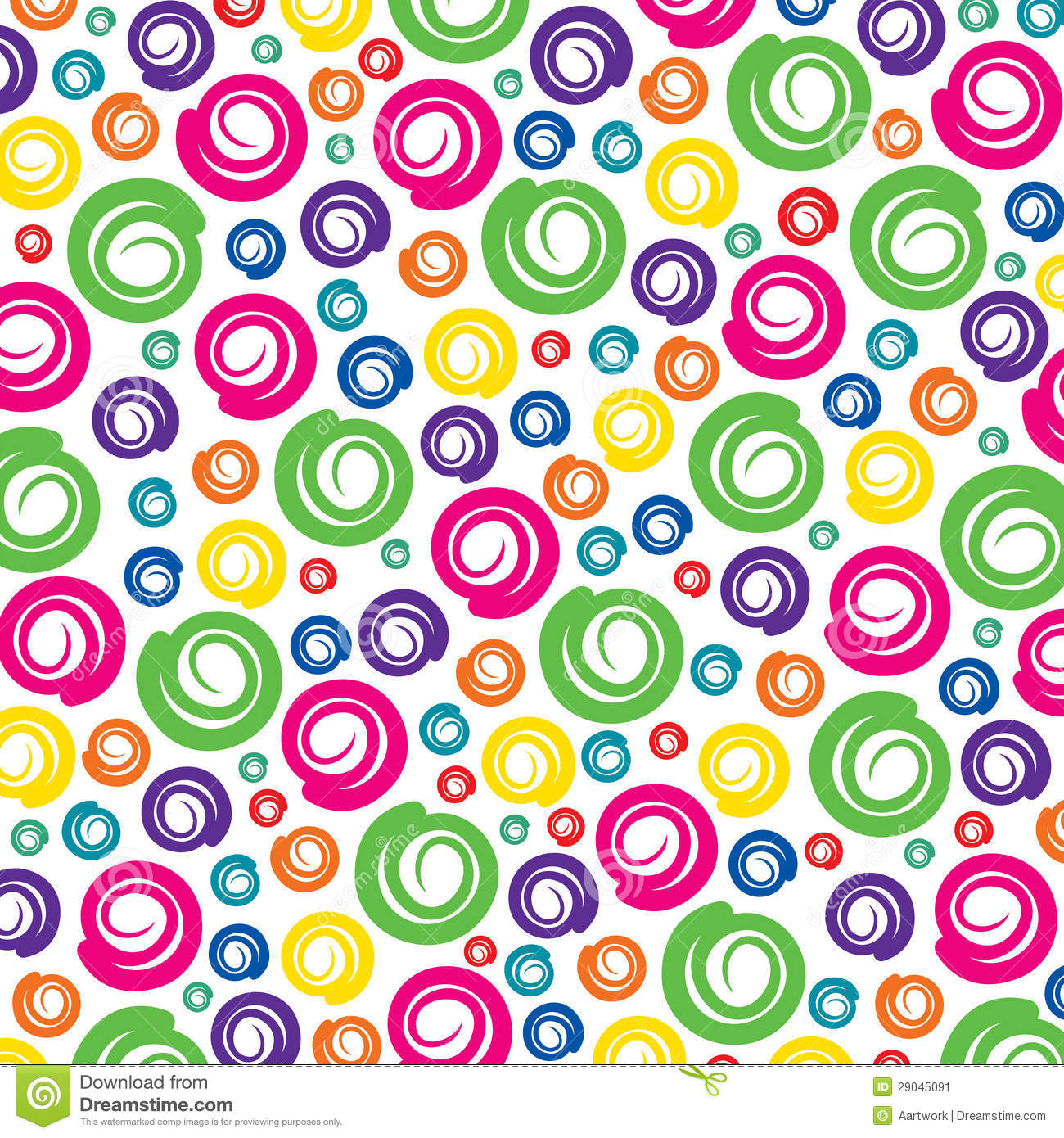 Colorful Swirl Pattern Background Stock Image - Image: 29045091