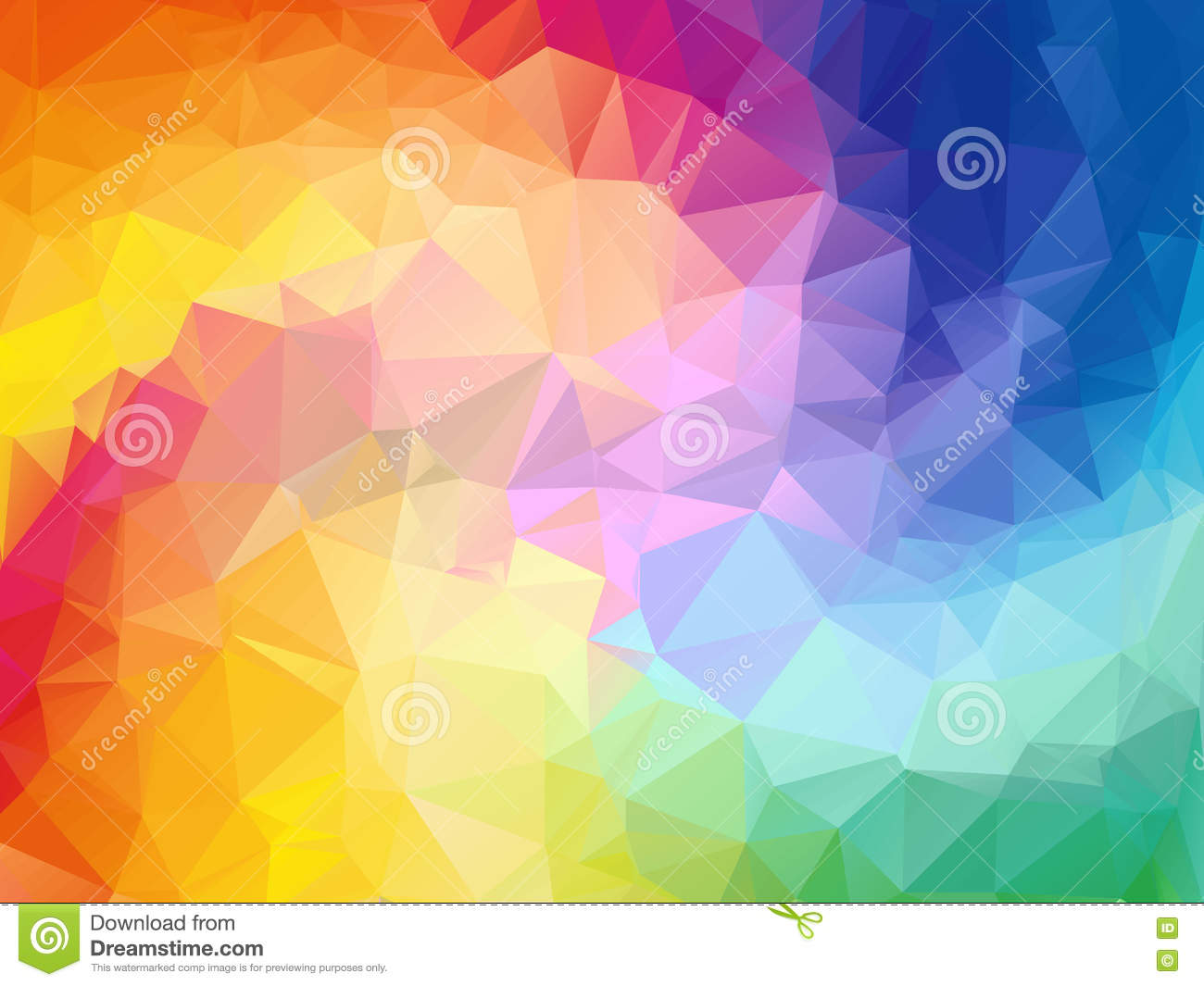 download colorful swirl rainbow polygon background colorful abstract vector abstract rainbow color triangle geometrical