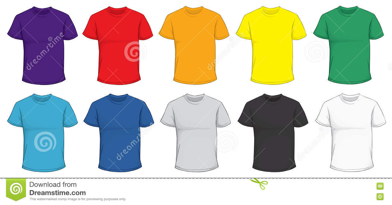 Colorful T-Shirt Template stock vector. Illustration of clothes ...