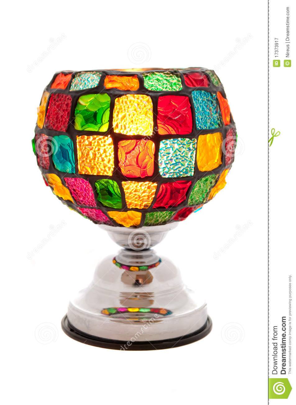 Colorful Table Lamp Stock Image Image Of Decor White