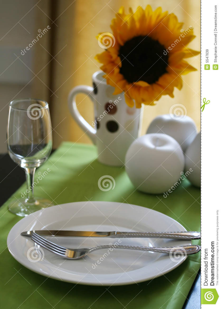 Colorful Table Setting Royalty Free Stock Images Image