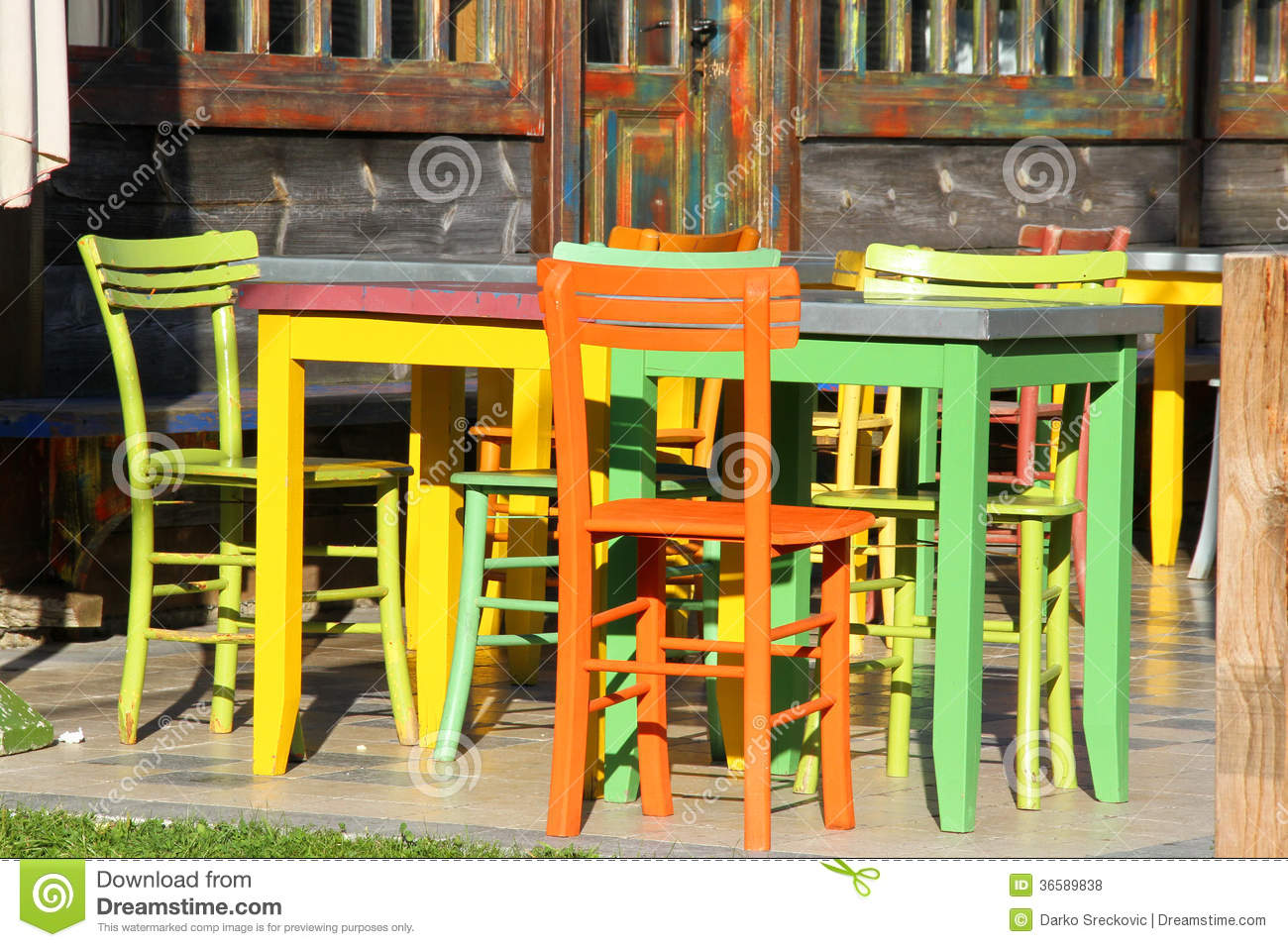 Colorful Tables Stock Photo Image Of Tables Tourist 36589838