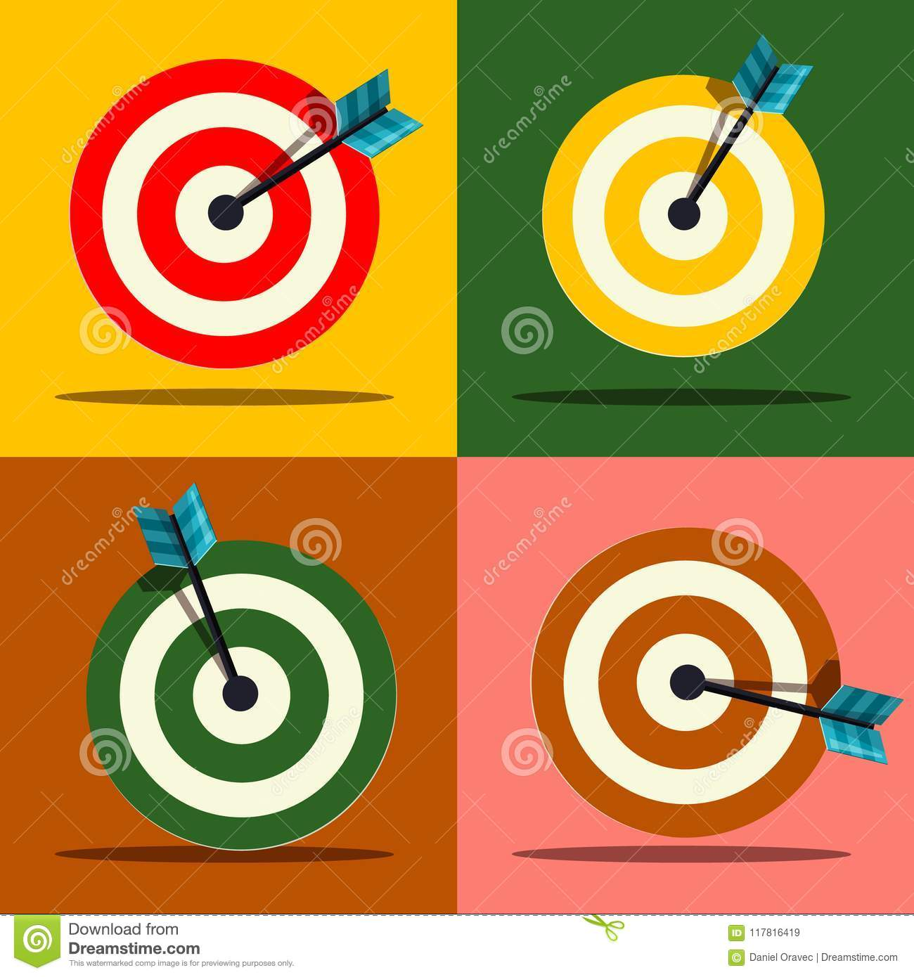 Target Icons Set. Vector.